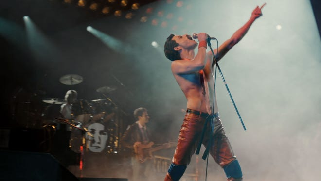 Rami Malek as Leather Freddie in 'Bohemian Rhapsody.'