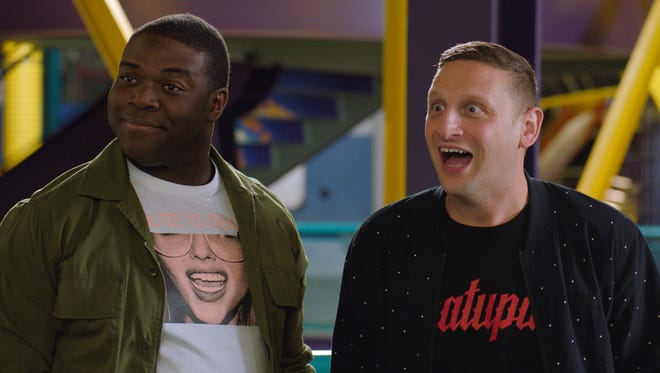 Detroit ad men Sam Duvet (Sam Richardson), left, and Tim Cramblin (Tim Robinson) are back at work in the Motor City for Season 2 of Comedy Central's 'Detroiters.'