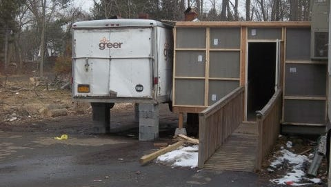 This trailer housed a matzo oven at 33 Forshay Road in Ramapo.