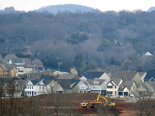 Land off South Carothers Road being developed for new homes in Franklin, Tenn. on Wednesday, Feb. 7, 2018.