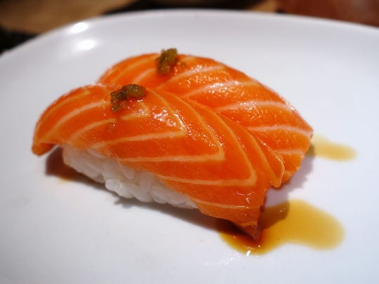 Ocean Trout Nigiri at Yasu Sushi Bistro.