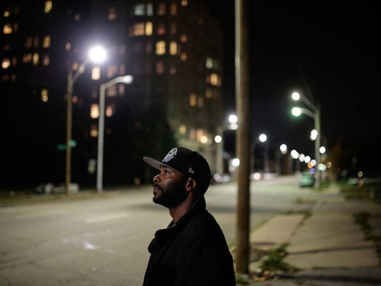 Detroit resident Jerald Gossett, 33, talks about how