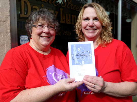 Carol Lipp, left, and Tami Bookey-Kuhlman, with the Polk County Relay for Life, shared news Tuesday about their upcoming fundraiser.