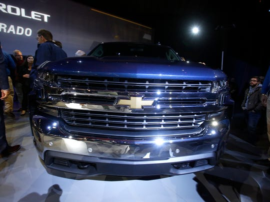 The 2019 Chevrolet Silverado was revealed at Eastern Market in Detroit on Saturday Jan. 13, 2018.