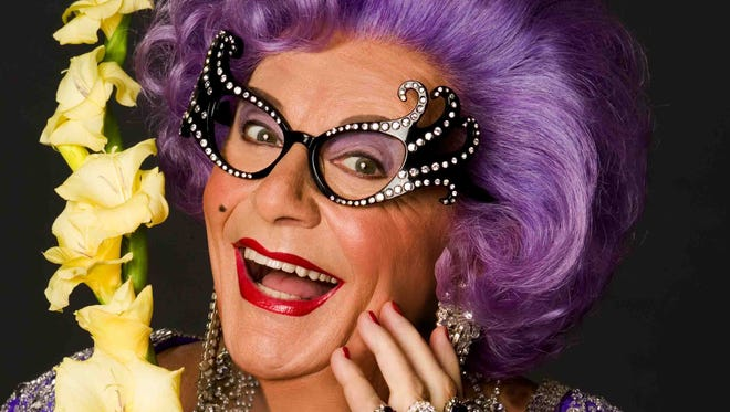 Dame Edna will bring her farewell tour of America to the McCallum Theatre for a six-night run starting Monday.