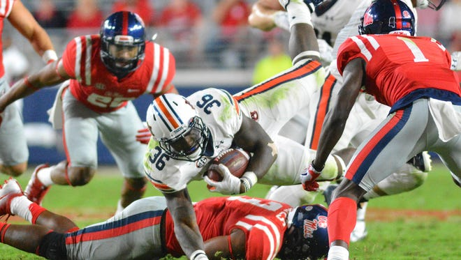 Ole Miss allowed 307 rush yards and 554 yards of total offense to Auburn.