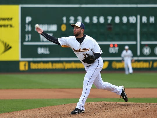 Micah Owings threw two innings of scoreless baseball in his Revs' debut Sunday.
