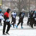NFC Championship game preparations: Cardinals at Panthers