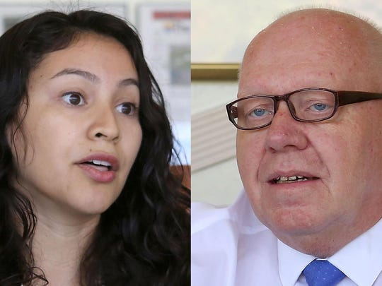 Anayeli Zavala, left, and Larry Buchanan would offer different segments of the population new voices on the Desert Hot Springs City Council.