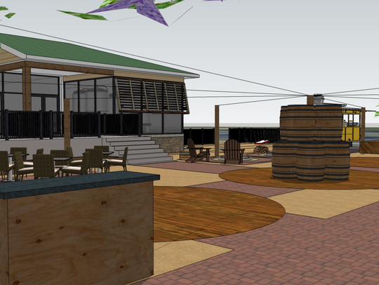 A 3D rendering of Evolution Craft Brewing Co.'s upcoming