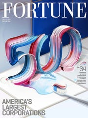 """The cover of Fortune magazine features the """"500"""" painted"""