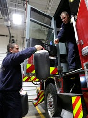 Fond du Lac Fire and Rescue members Chris Behnke and