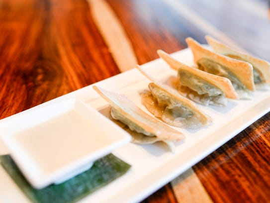 Crispy edamame pot stickers from Danlu in Philadelphia.