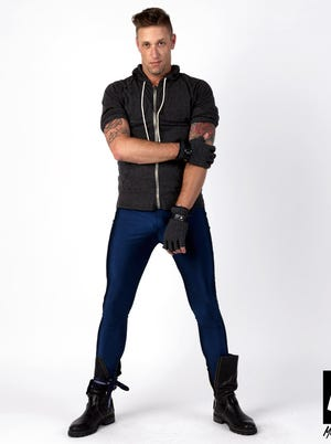 Meggings come in navy blue