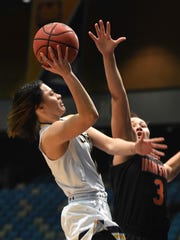 Northern Colorado's Tiarna Clarke with Idaho State's