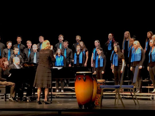 The Wilmington Friends Chamber Singers performed at the annual Four School Choral Festival on Jan. 6.