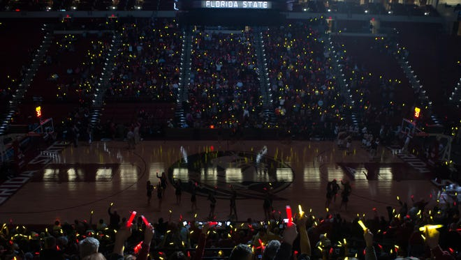 Against NC State on Senior Night, Florida State set the world record for most glowsticks.