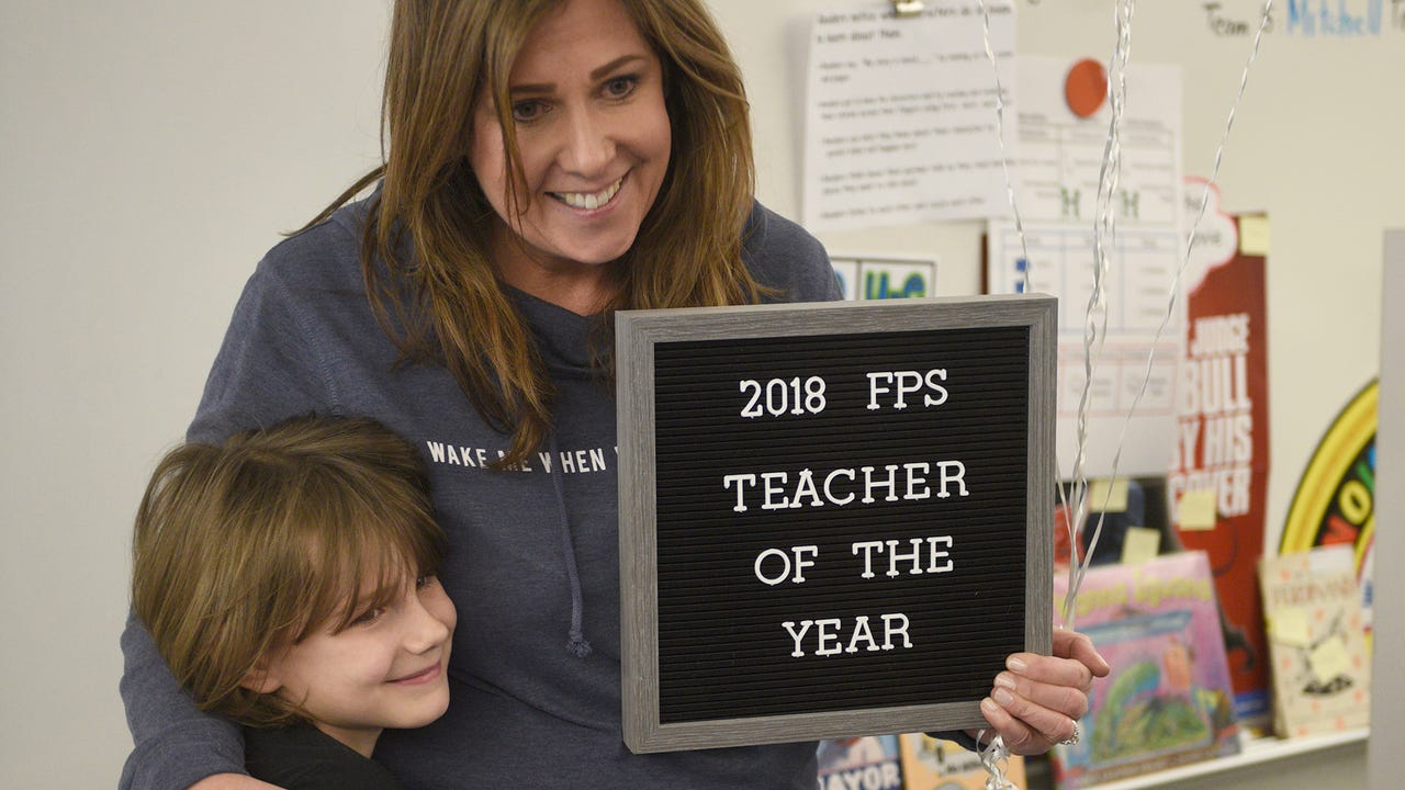 Farmington Public Schools officials recognized the district's top teachers in surprise ceremonies Wednesday.
