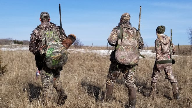Jason Kron's group had success calling birds away from the big flocks near roosting and feeding areas during a turkey hunting trip in South Dakota.