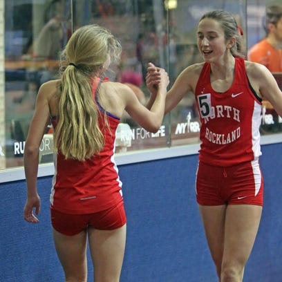 From left, North Rockland's Katelyn Tuohy and Alexandra