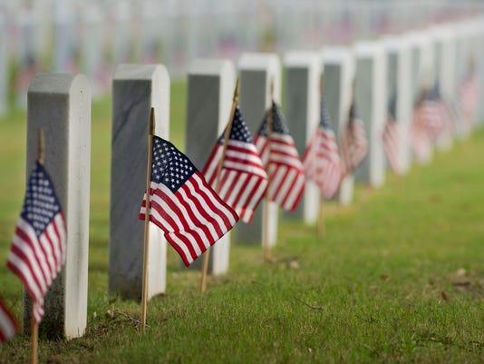 Flag Placing at Barrancas National Cemetery 4