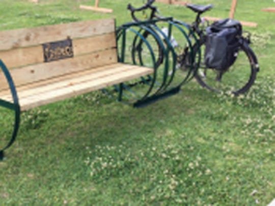 TRAIL's bike benches in Acadiana