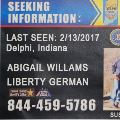 Police handed out this flier Monday to passing motorist,
