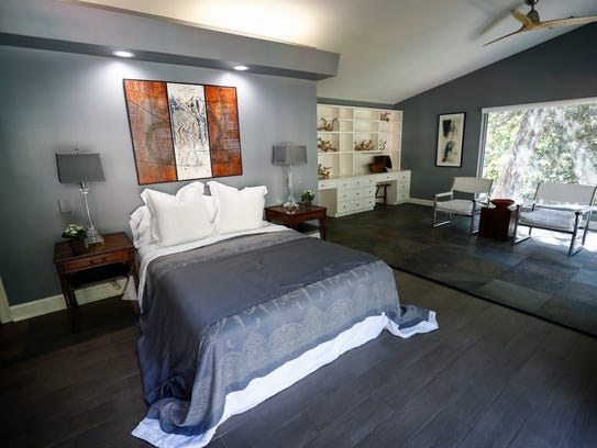 The master bedroom in the four bedroom, four full bath