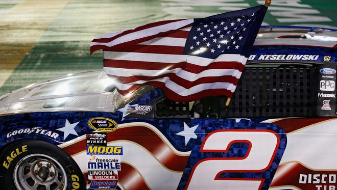 Brad Keselowski notched his second Quaker State 400 win in 2014.