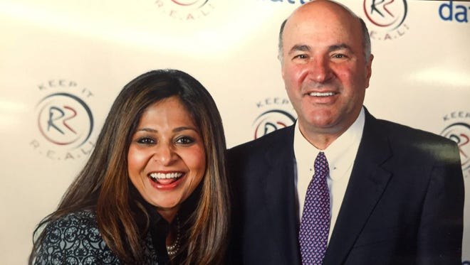 Sitima Fowler chats With Kevin O'Leary of  'Shark Tank.'