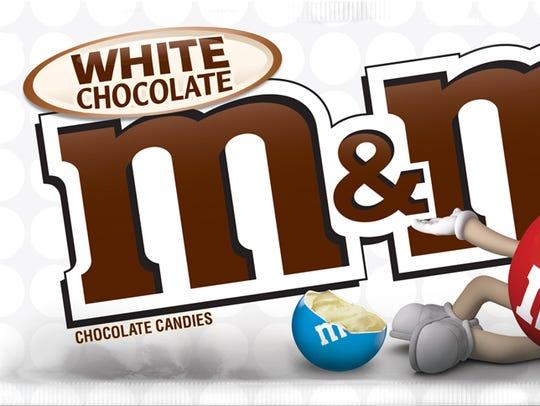 M&Ms White Chocolate.