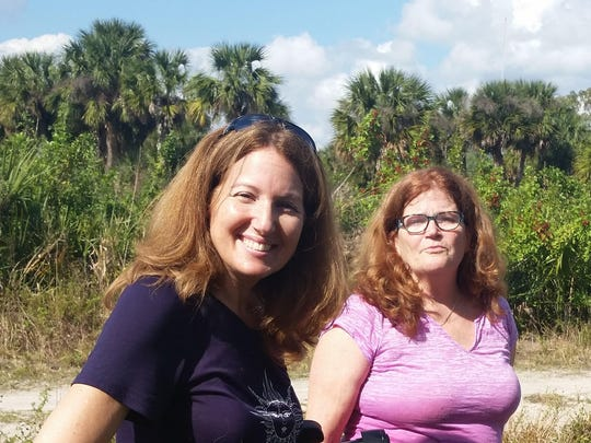 Jennifer East, volunteer graphics designer, left and Katherine Johnson, Animal Sanctuary Founder.