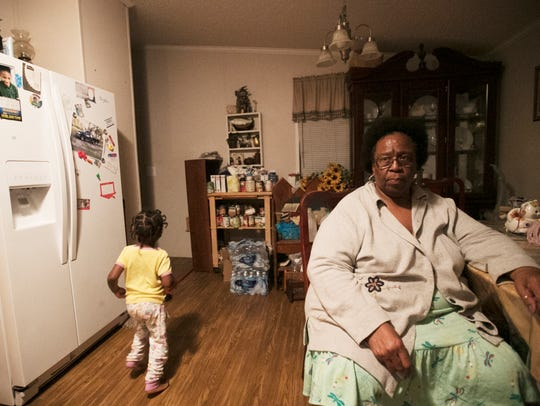 Charleston Park resident Pansy Baker wishes her deceased