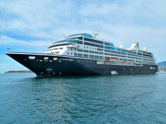The Azamara Quest is one of two upscale, 694-guest, 30,277 gross ton ships offering an all-inclusive, destination-rich cruise experience for Royal Caribbean-owned Azamara Club Cruises.