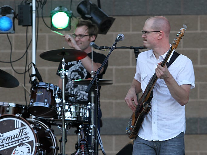The Beer Muffs preform at the Streaming Live at the Leach Tuesday as part of the free music series hosted over the summer.