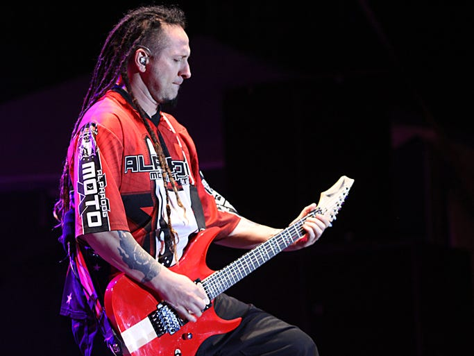 Five Finger Death Punch had the stage for the finale Saturday at Rock USA 2014 in Oshkosh.