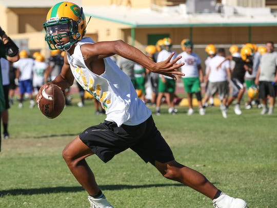 Coachella Valley High School quarterback Armando Deniz