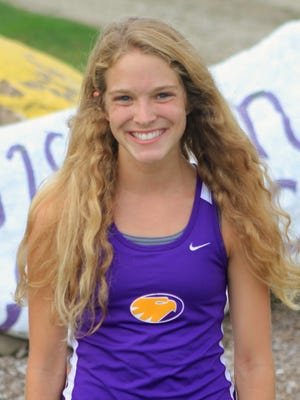 Megan Slamkowski has been Guerin Catholic's top runner during a record-breaking season for the Eagles.