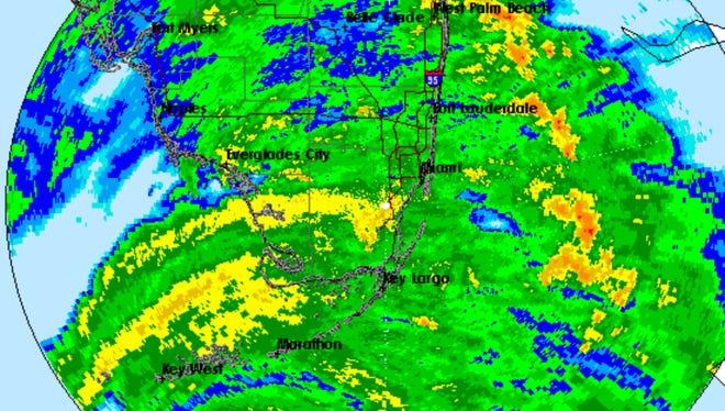 Radar over South Florida