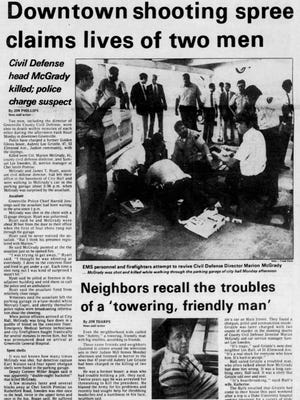 The front page of The Greenville News on June 9, 1981