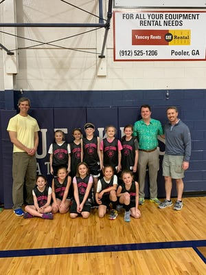 The Lucky Charms 10-under girls basketball team of the Jenkins Athletic Club.