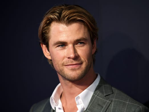 Australian actor Chris Hemsworth, best known for playing