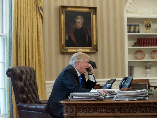President Trump speaks on the phone with German Chancellor