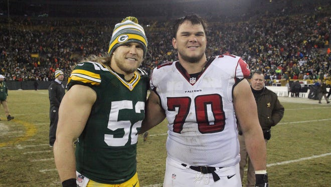 Packers linebacker Clay Matthews will face off with Falcons tackle Jake Matthews, his cousin, on Sunday at the Georgia Dome.