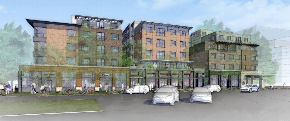Elegant This Rendering Shows The Planned Uncommon Apartment Complex Planned At The  Former Perkins Site On The Southeast Corner Of College Avenue And Olive  Street In ...