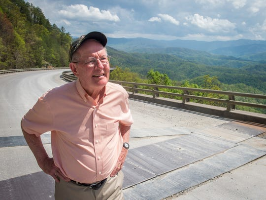 Sen. Lamar Alexander takes in the views from the Missing