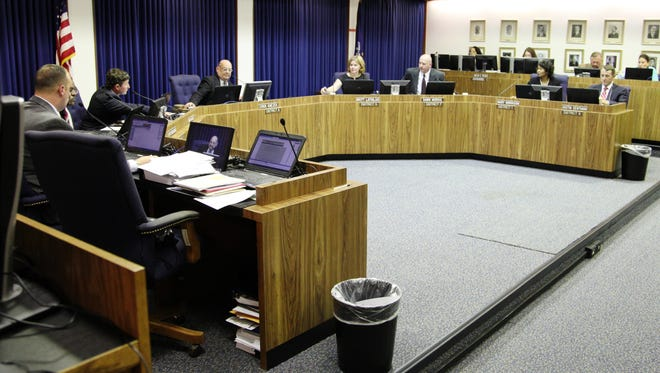 The Lafayette Parish School Board meets in 2015. While some meetings have drawn large crowds, the meetings about new attendance zones have not been as popular.