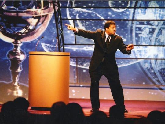 Celebrity scientist Neil deGrasse Tyson will talk movies Monday night at the Orpheum.