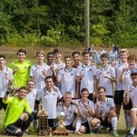 The Aletheia Christian Academy soccer team celebrates their win in the Panhandle Christian Conference Final Four last week.