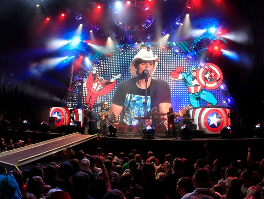 Brad Paisley performs in New York